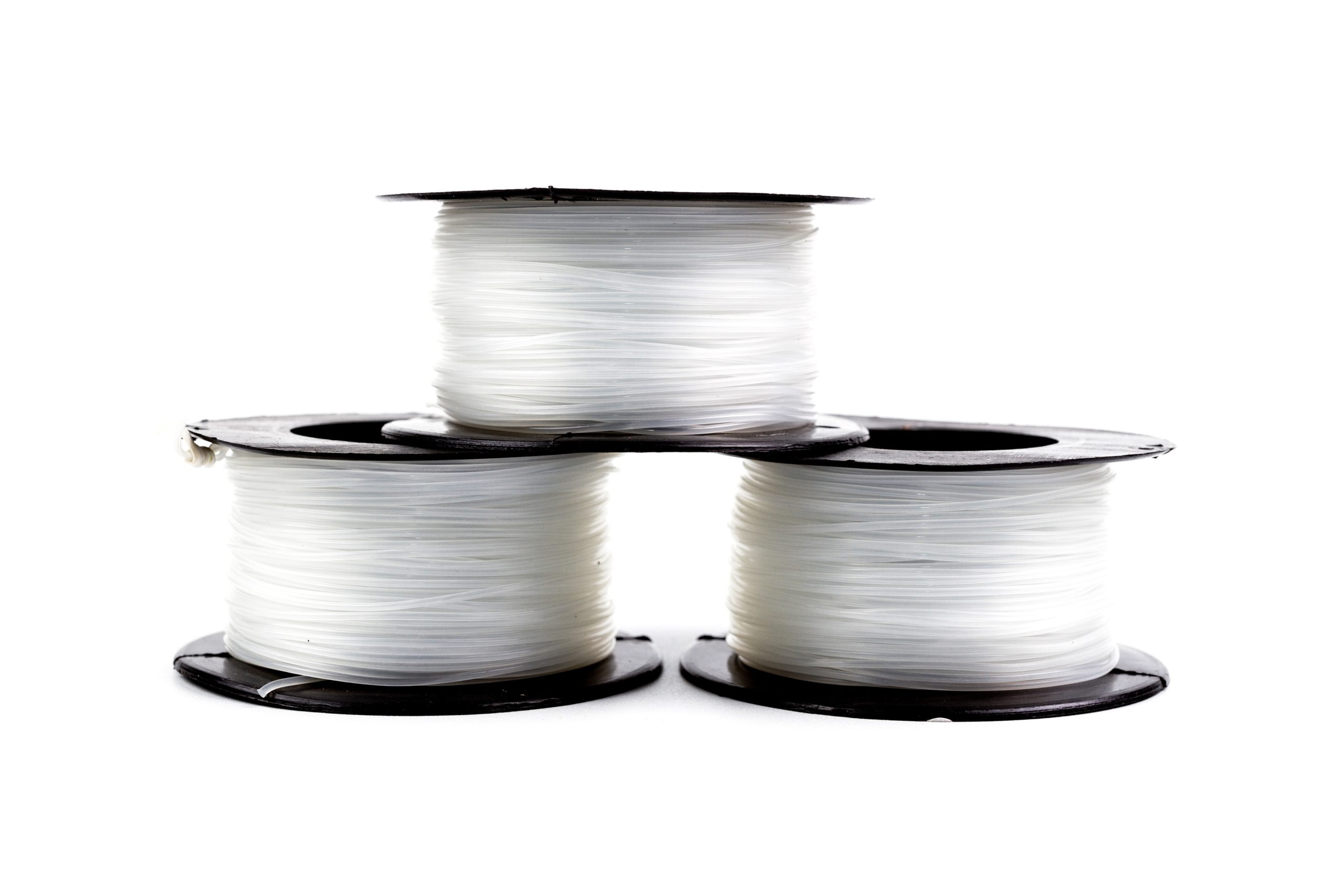 Fishing line spools.