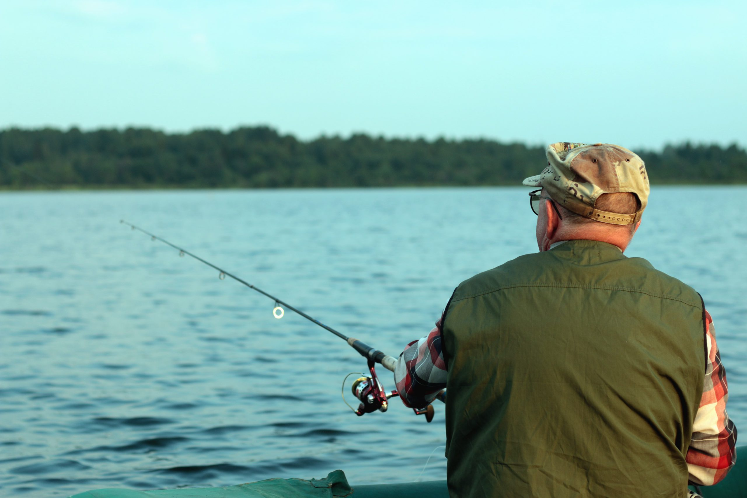 Man casting a spinning rod