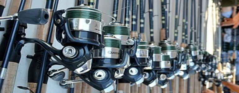 A lot of spinning rod combos.