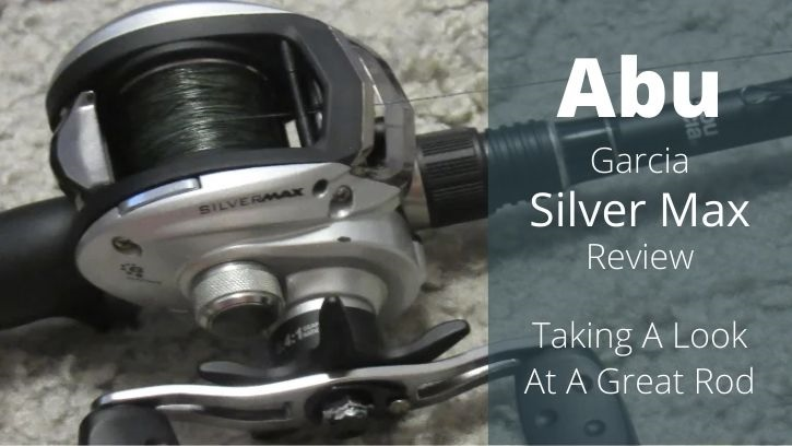 Abu Garcia Silver Max rod and reel combo laying on the ground.